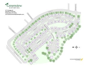 Greenview Estates Memphis site map